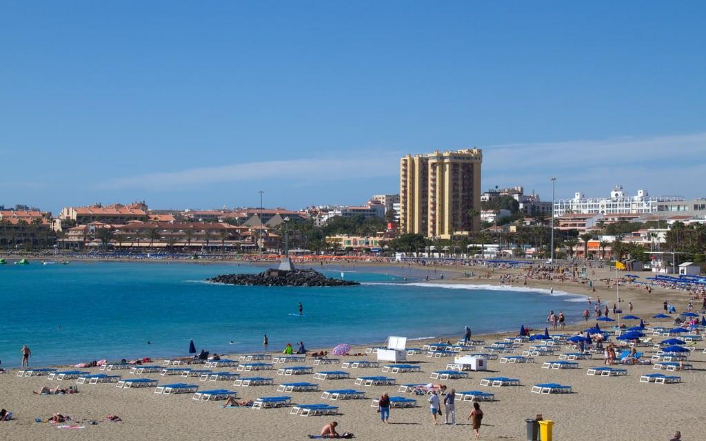 Playa de Las Vistas görüntü. tenerife los cristianos canary islands spain