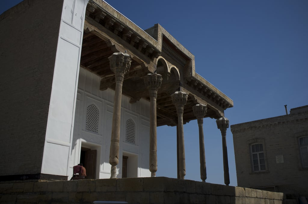 Зображення The Ark. wood mosque uzbekistan bukhara