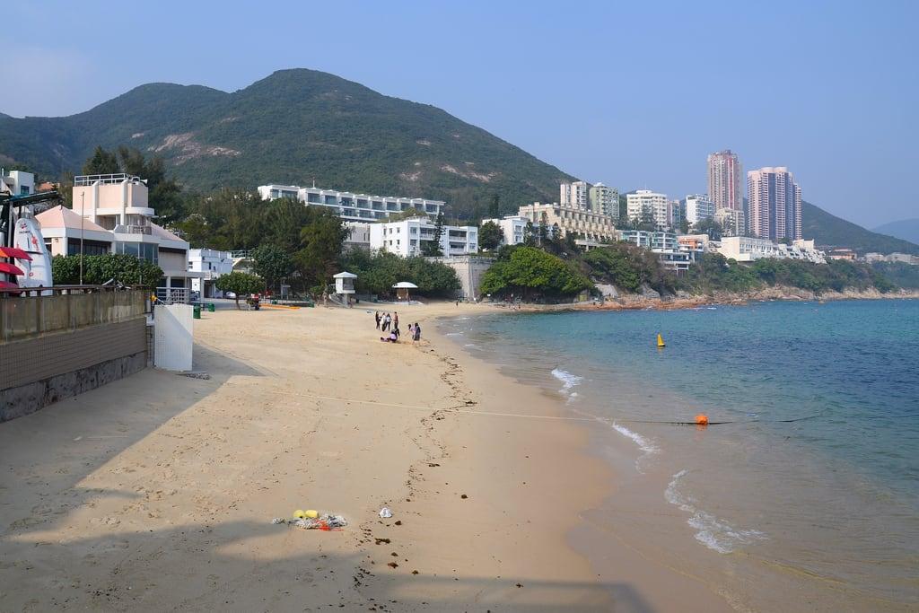Attēls no Stanley Main Beach Water Sports Centre 赤柱正灘水上活動中心 Stanley Main Beach. travel sea beach water hongkong sand asia stanley