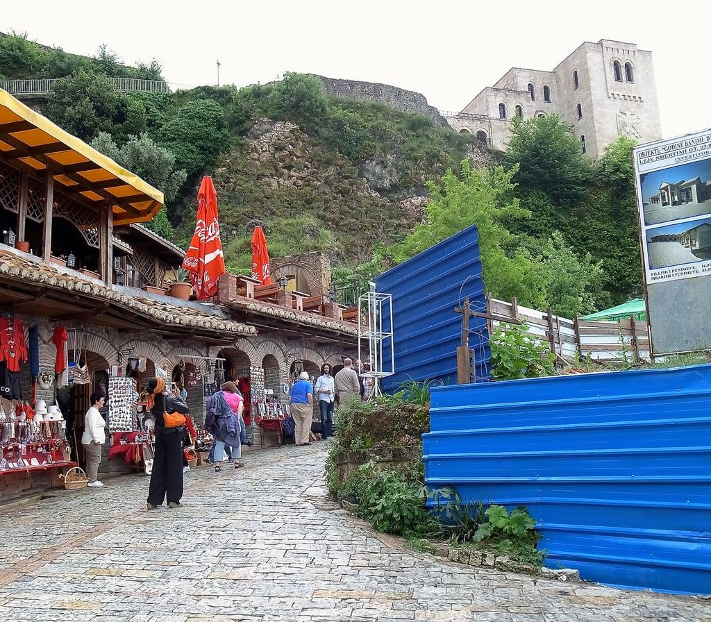 Image of Krujë Castle. castle shops albania krujë