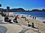 Zdjęcie:   Brazylia  Rio de Janeiro  Copacabana  (rio, w copacabana, widok na sugar loaf mountain)